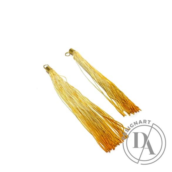 TIA Design: Rojtos fülbevaló ombre - arany