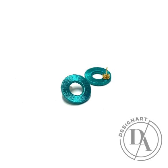 TIA Design: Kör fülbevaló - türkiz