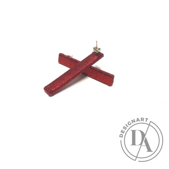TIA Design: Pálca fülbevaló - bordó