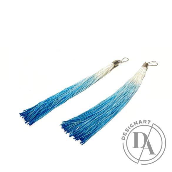 TIA Design: Rojtos fülbevaló ombre - kék