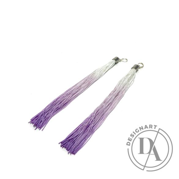TIA Design: Rojtos fülbevaló ombre - lila