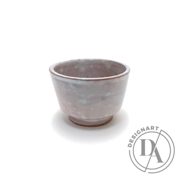 Tiéd: Fehér mázas terrakotta csésze n1 / magasság 6cm, ø 7cm