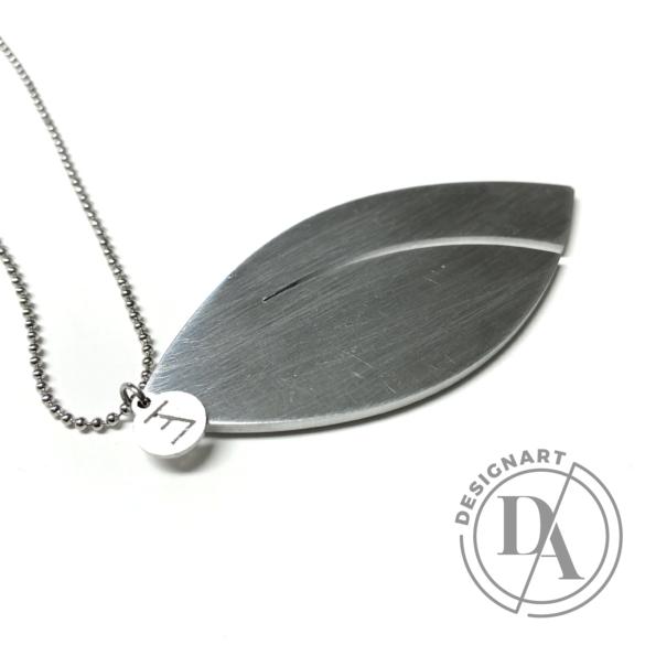 Zemse: Levél alumínium nyaklánc