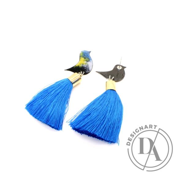 Bakos Natália: Kék Oriole fülbevaló