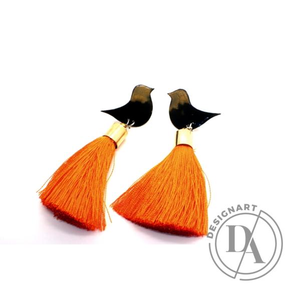Bakos Natália: Narancs Oriole fülbevaló