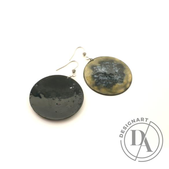 Bakos Natália: Okker Planetary fülbevaló